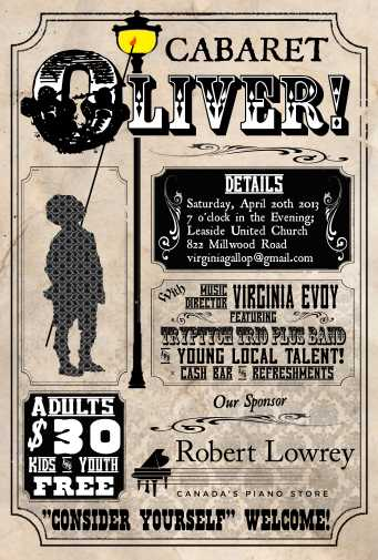 """""""Cabaret Oliver!"""" Poster"""