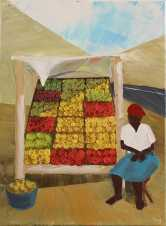 On the Way to Njabini (Oil on Canvas)